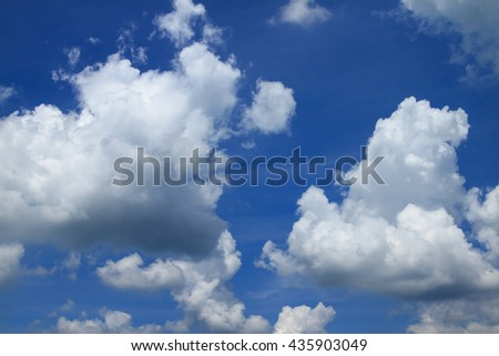 blue sky with cloud:ideal use for background - stock photo