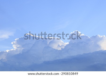 Blue sky with cloud in a sunny day - stock photo