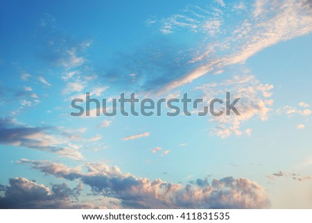 blue sky with cloud, nature background - stock photo