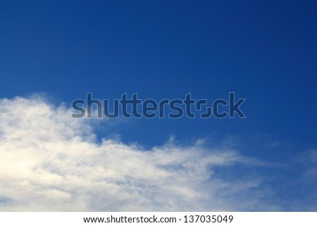 Blue Sky with Cloud on Clear Day. - stock photo