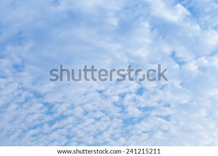 blue sky with cloud pattern - stock photo