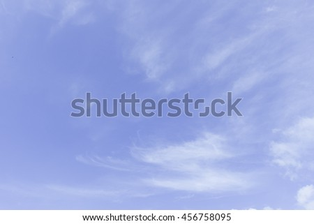 blue sky with cloud sky, blue, cloud, background, summer, light, clear, day, sun, photo, spring, high, white, cumulonimbus, outdoor, sunlight, nimbi, cumuli, precipitation, nobody, cloudiness,   - stock photo