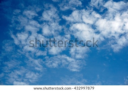 blue sky with cloud texture     - stock photo
