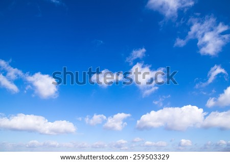 blue sky with clouds - stock photo