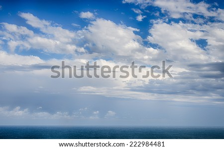 Blue sky with clouds background. HDR image