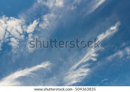 blue sky with clouds background.pure summer blue sky with white clouds.