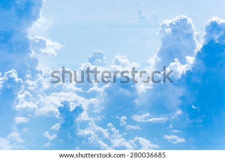 blue sky with clouds. cloudscape - stock photo