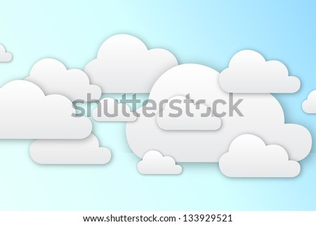 Blue Sky With Clouds Illustration
