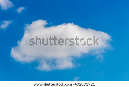 blue sky with clouds in summer