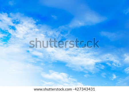 blue sky with clouds on sunshine day