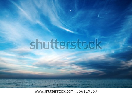 Blue Sky Clouds Over Sea Wallpapers 566119357