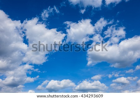 blue sky with clouds, sky wallpaper, clouds and sky background - stock photo