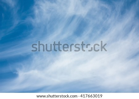 Blue sky with clouds sunny hot morning. - stock photo
