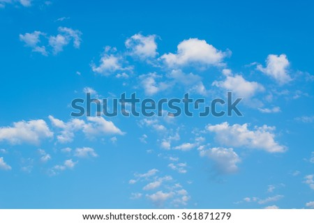 blue sky with cloudy - stock photo