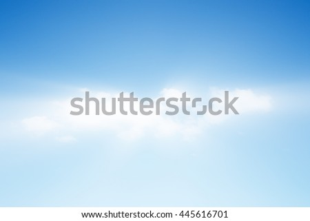 Blue sky with soft clouds and sunshine
