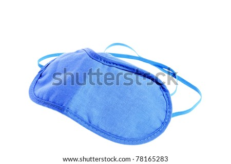 blue sleeping mask isolated on white - stock photo