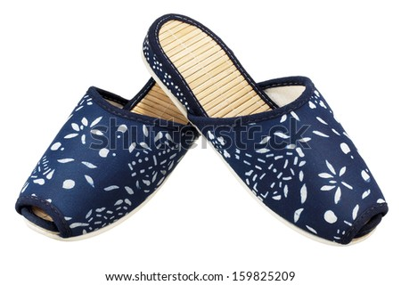 Blue Slippers - stock photo