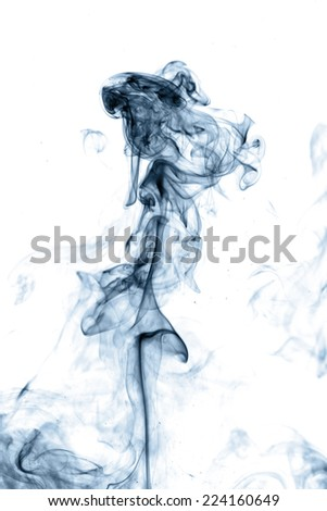 Blue smoke - stock photo