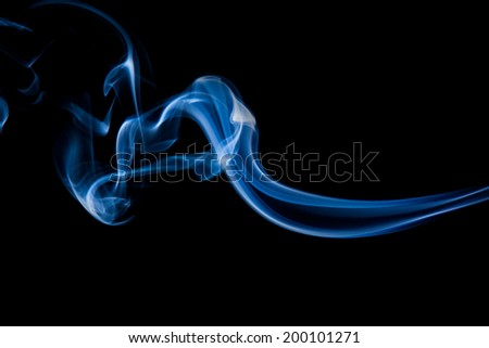 blue  smoke lighting abstract on black background.
