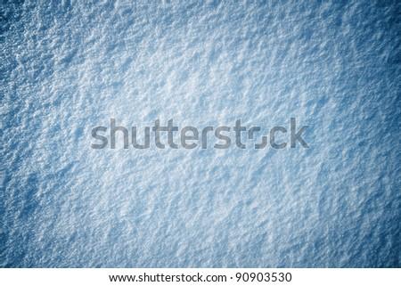 Blue snow texture - stock photo