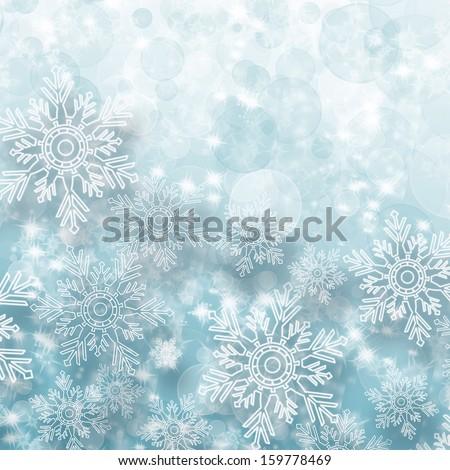 blue snowflake background  - stock photo