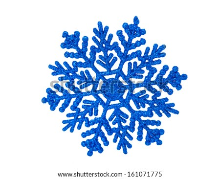 blue snowflakes isolated on white background