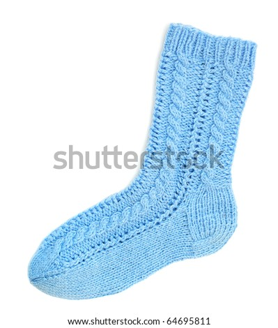 Blue sock - stock photo