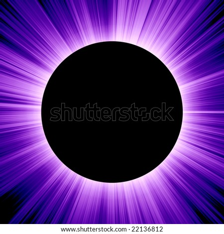 blue solar eclipse - stock photo