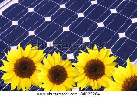 blue solar pane - stock photo