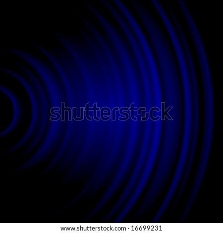Blue Soundwave - stock photo