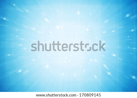 Blue Sparkle Background - stock photo
