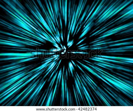 blue speed - stock photo