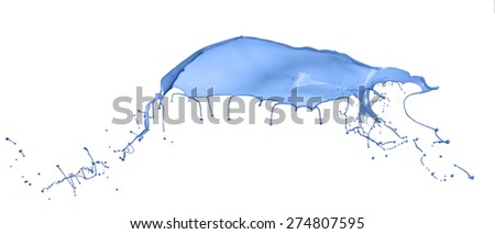 Blue splash isolated on white background