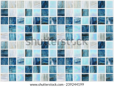 blue square tiles with various effects marble - stock photo