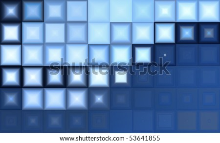 blue squares background - stock photo