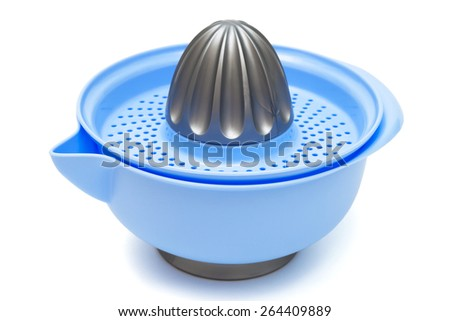 blue squeezer citrus on a white background - stock photo