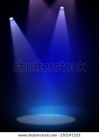 Blue stage background