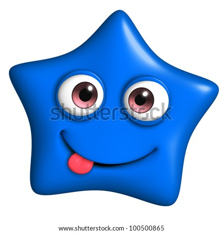 blue star - stock photo