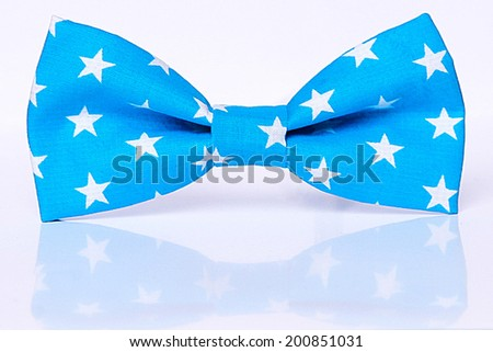 blue star bow tie  - stock photo