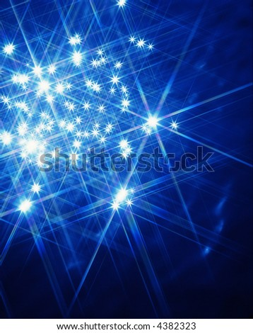 Blue Star Light - stock photo