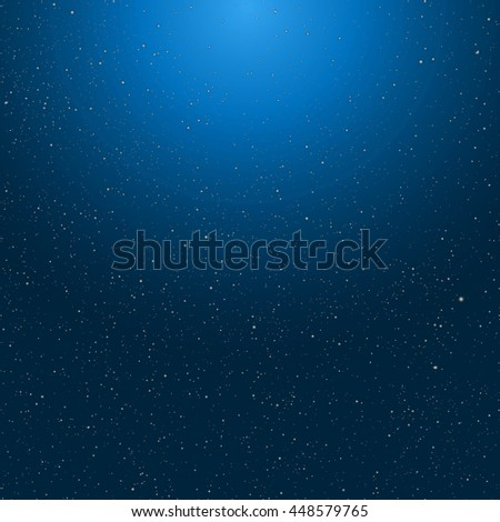 Blue starry sky background. Universe filled with stars. - stock photo