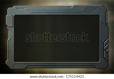 Blue steel console device - stock photo