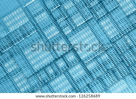 Blue Steel mesh metal plate background or texture