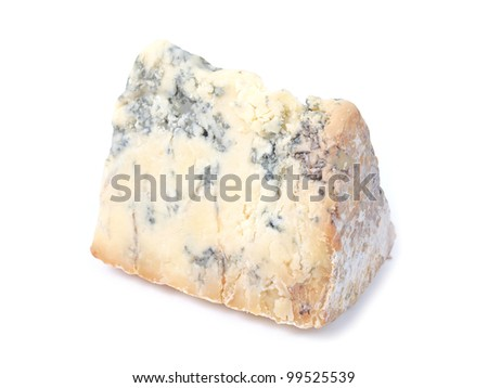 Blue Stilton cheese, traditional fine British food from the English Midlands
