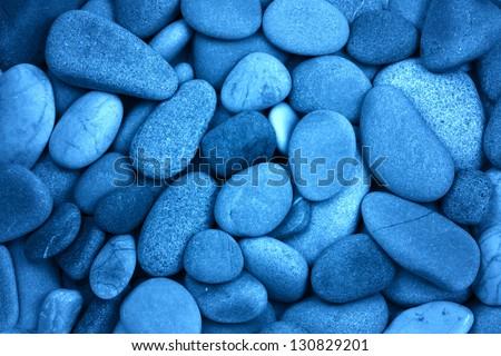 blue stone - stock photo