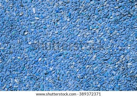 Blue stone wall seamless pattern - stock photo