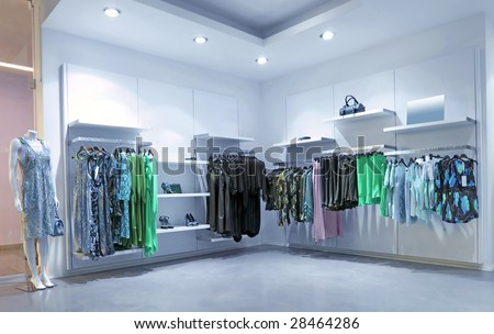 blue store - stock photo