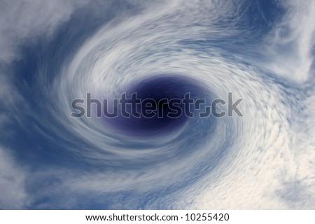 Blue Storm - stock photo