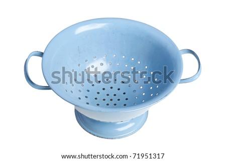 blue strainer - stock photo