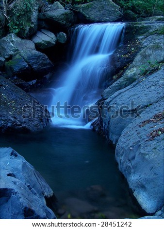 blue stream at evening - stock photo